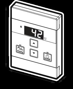 Rinnai INFINITY Compact Controller (MC601A) dimensions diagram